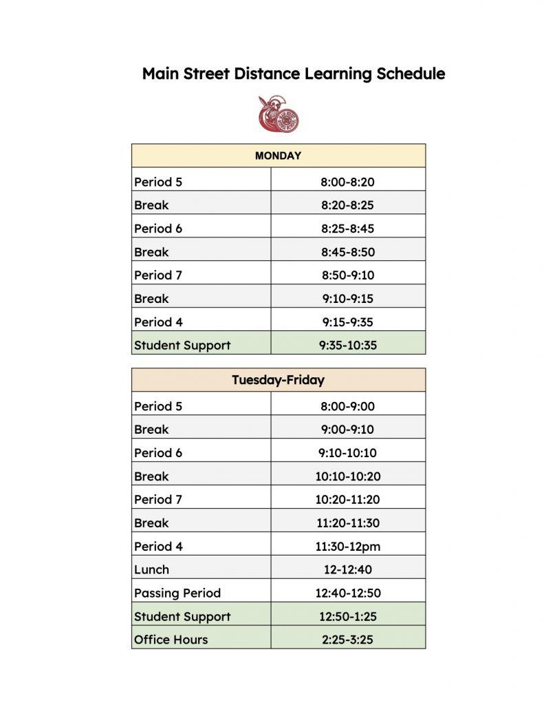 MSMS Bell Schedule 2 - Sheet1